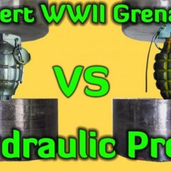 grenades vs hydraulic press