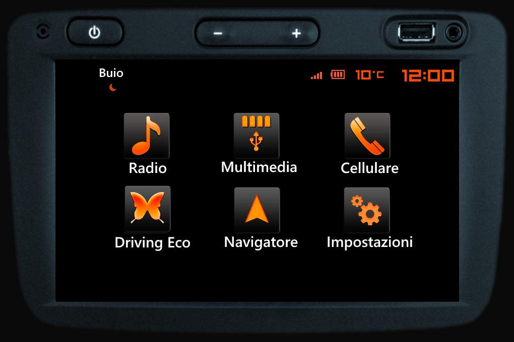 Preview HDUSTER DARK ORANGE DD17 Media Nav EVO SKIN RENAULT DACIA by Lisandru.euome