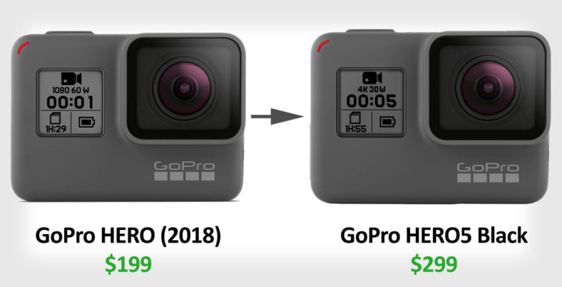 gopro hero 2018 to gopro hero5