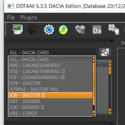 DDT4ALL DUSTER 2 II Interface