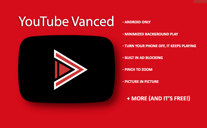 Youtube VANCED free background and noads