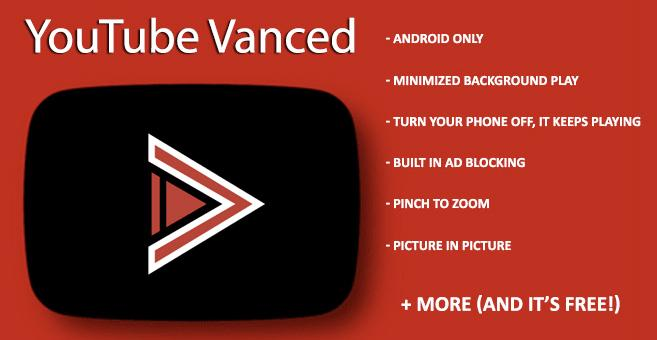 YOTUBE VANCED - PLAY with no ads and in background FOR FREE